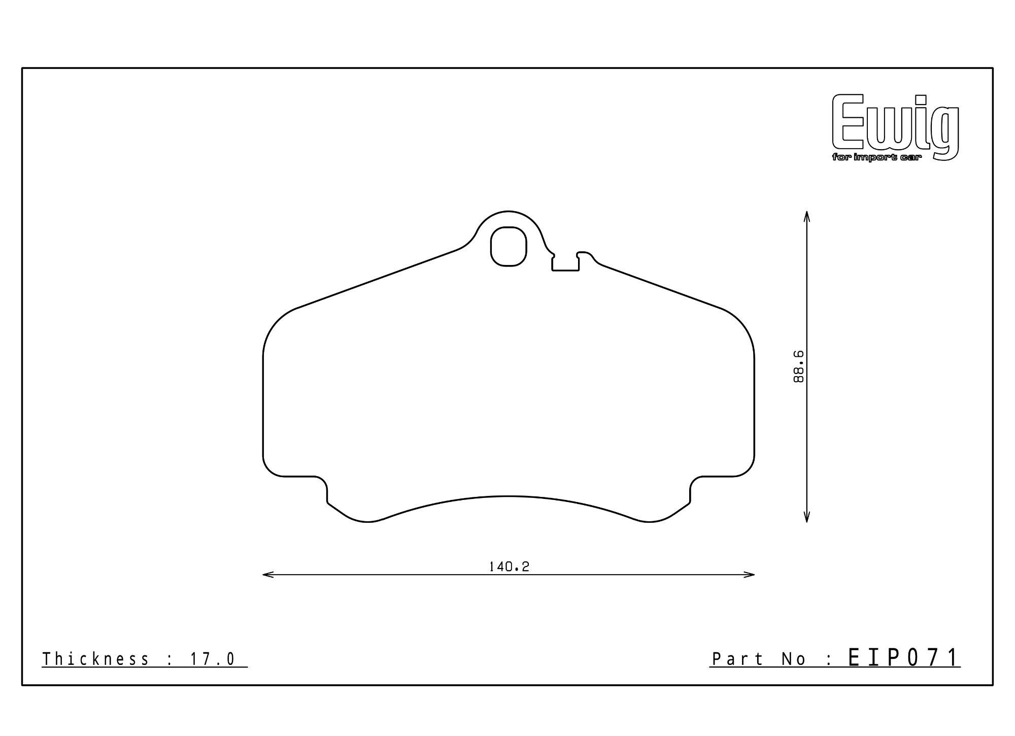 Endless Racing Brake Pads - EIP071